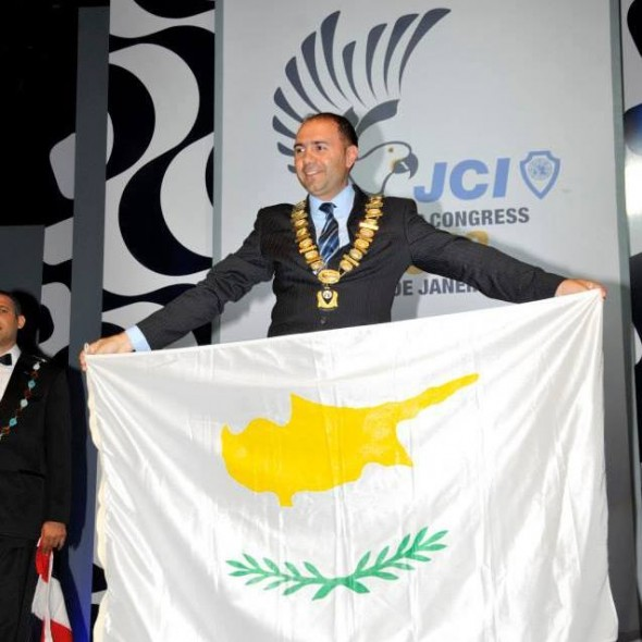 JCI Cyprus President Mr. Andreas Christophides at the JCI WC 2013