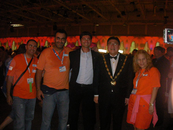 JCI Cyprus delegation with JCI World President 2009 Mr. JUN SUP SHIN