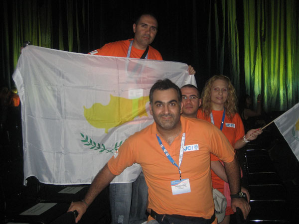 From the Cyprus Delegation at the Opening Ceremony