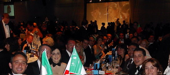 Gala Dinner Table. JCI Cyprus with JCI Italy, JCI Greece and JCI Portugal