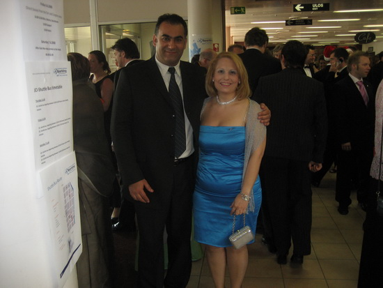 President Mrs. Mary Stephanidou and National V.P. Mr. Alexander Stamatiou at the Presidential Gala Dinner