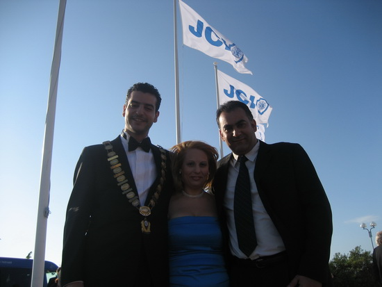 President Mrs. Mary Stephanidou, National President Mr. Ioannis Trochides and National V.P. Mr. Alexander Stamatiou before the Presidential Gala Dinner