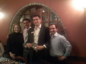 JCI International Vice President Mr. Rami Majzoub with members of JCI Lemesos board